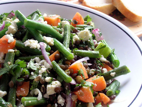 Lentil And Barley Greek-Style Salad With Tomatoes, Feta, And Capers ...